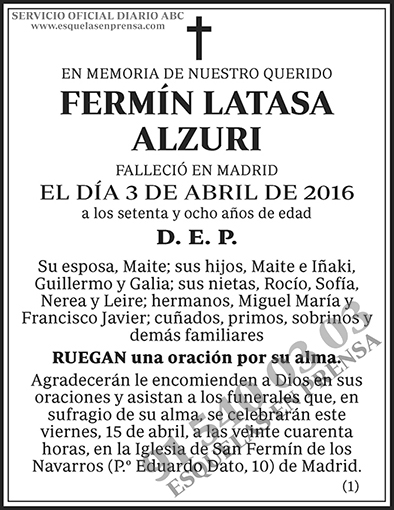 Fermín Latasa Alzuri
